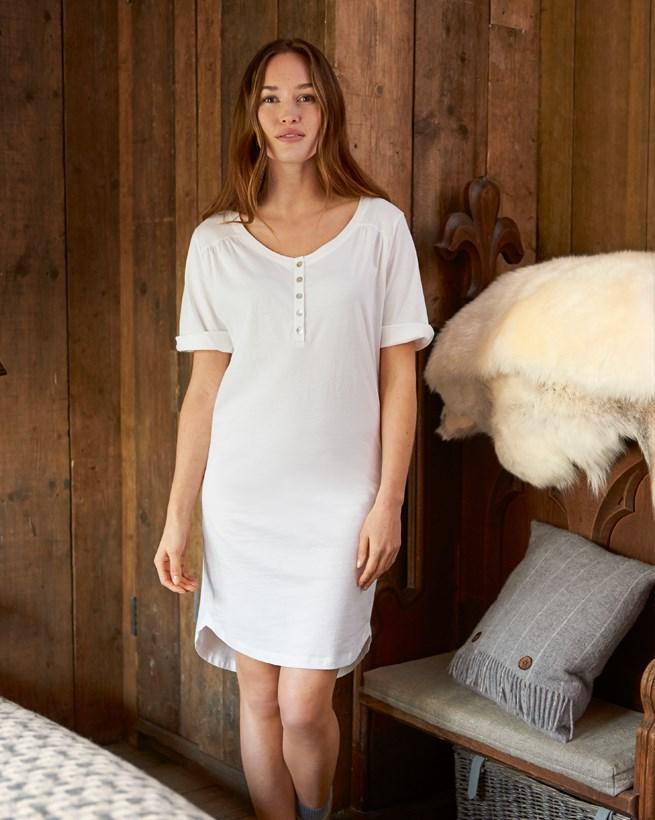 Organic Cotton Short Sleeve Nightie