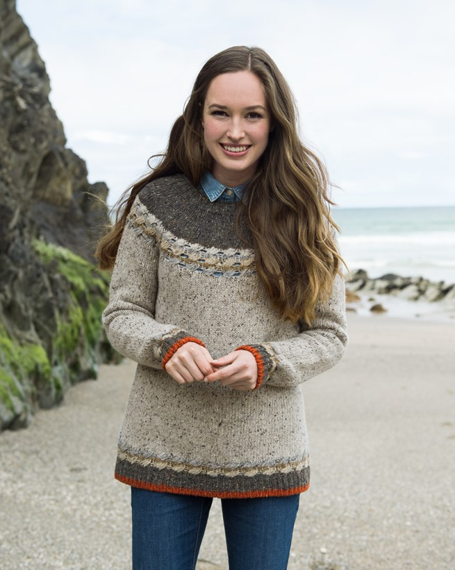 Cable-edge Donegal Jumper