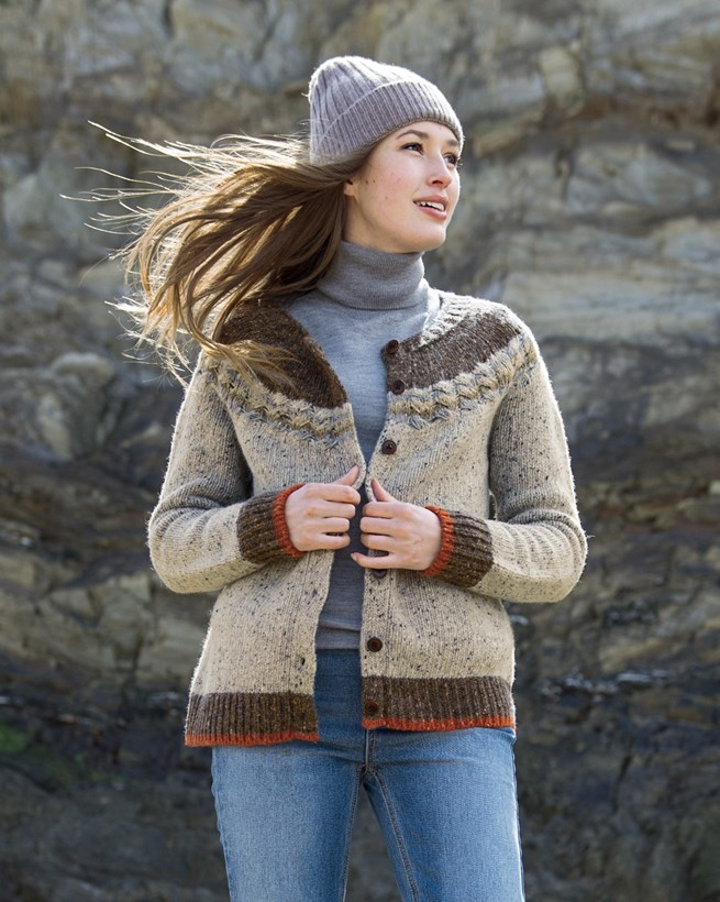 Cable-edge Donegal Cardigan