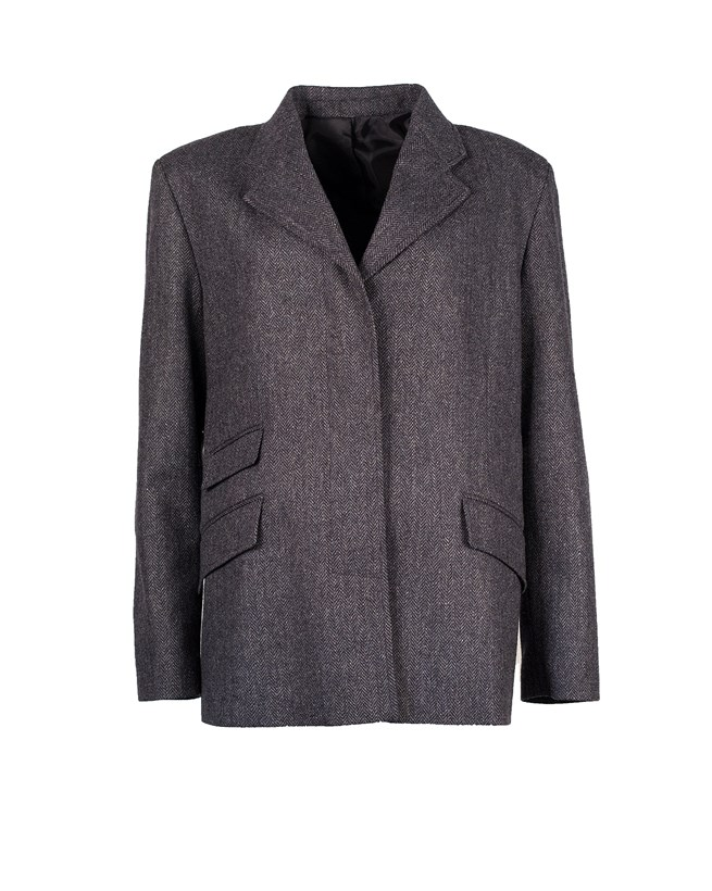 Herringbone Wool Jacket - Size 14/16 91