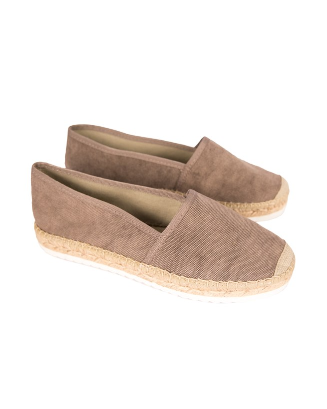 Flat Espadrille - Size 39 - Taupe
