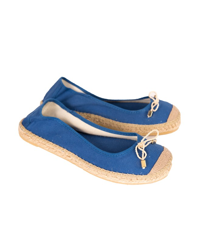 Flat Canvas Pump - Size 37 - Blue - 59