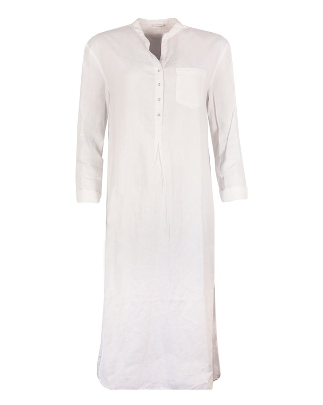 Soft Linen Nightie - Size Xsmall - Chalk