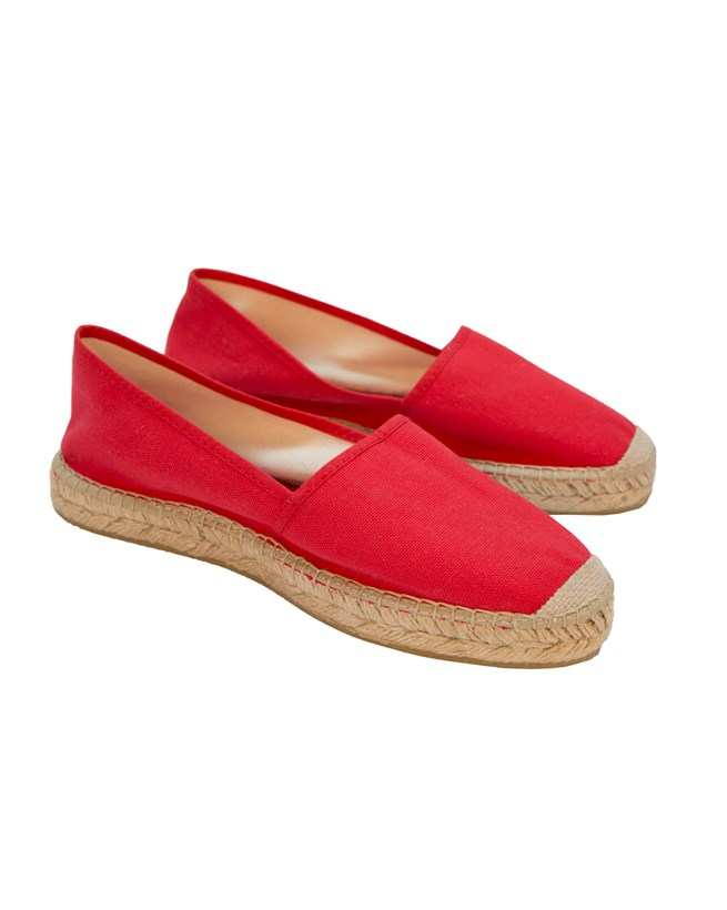 Flat Espadrille - Size 39 - Red