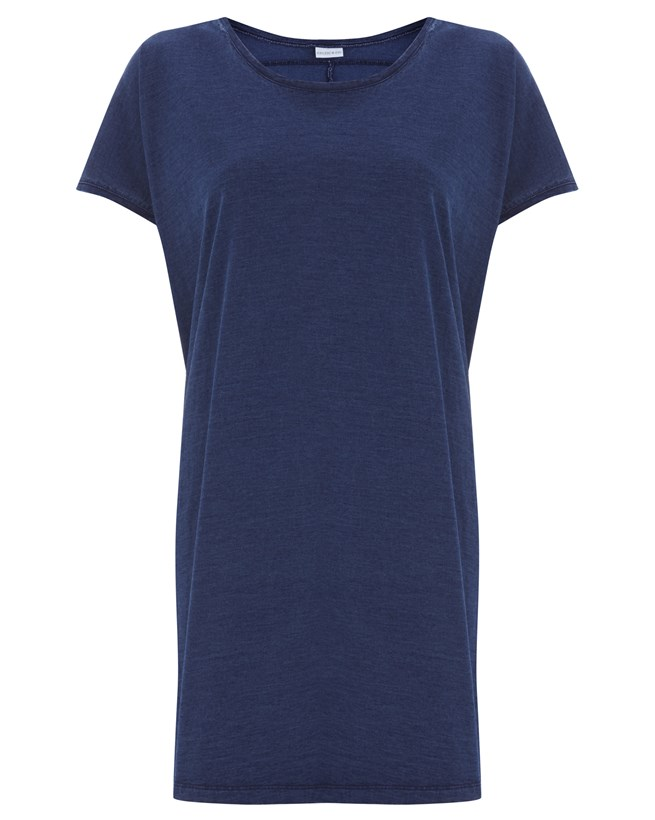 Indigo Tshirt Dress - Small - 433