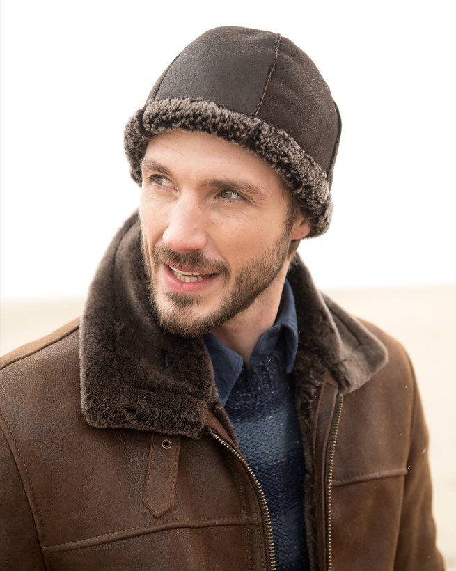 Men's Sheepskin Beanie
