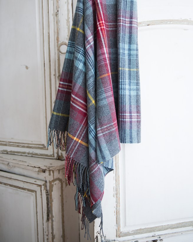 Lambswool Tartan Throw