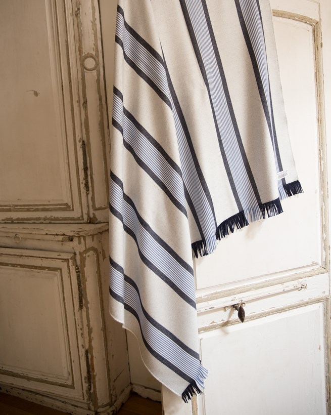 New England Stripe Throw