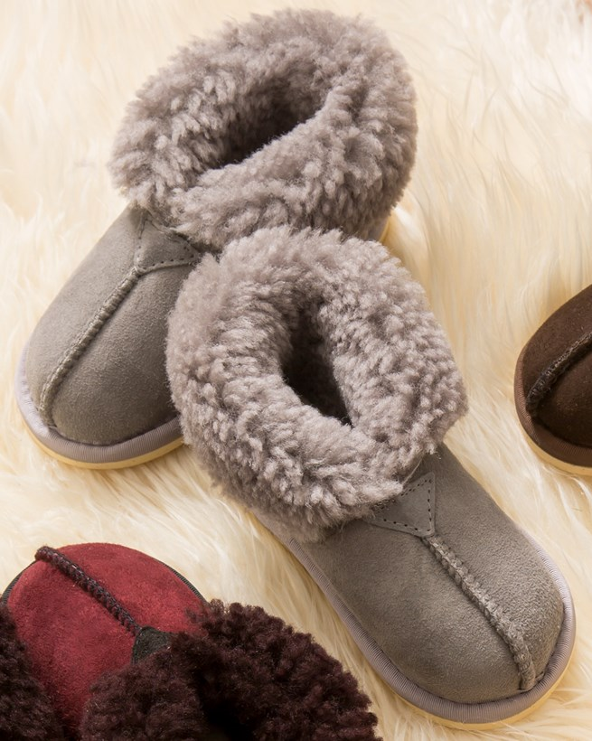 Kids' Sheepskin Slippers - Bootees