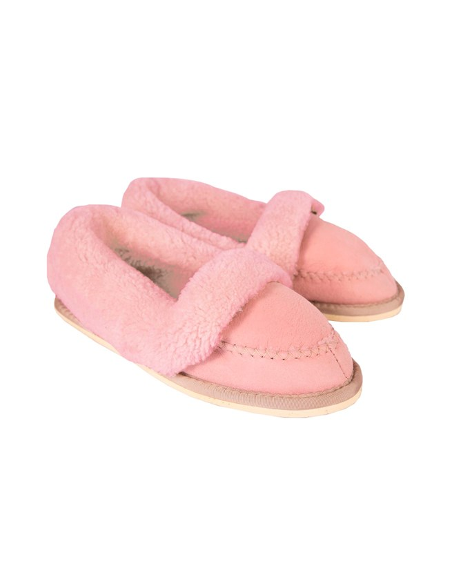 Halona Slipper - Size 5 - Pink with pink wool  126