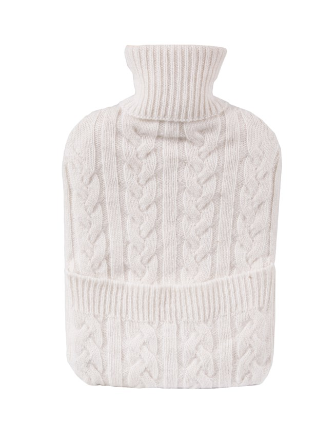 Cashmere Hot Water Bottle - Ivory 156