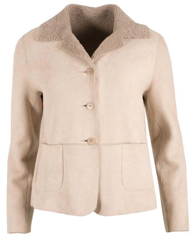 Classic Sheepskin Jacket - Size 10 - Oatmeal 109