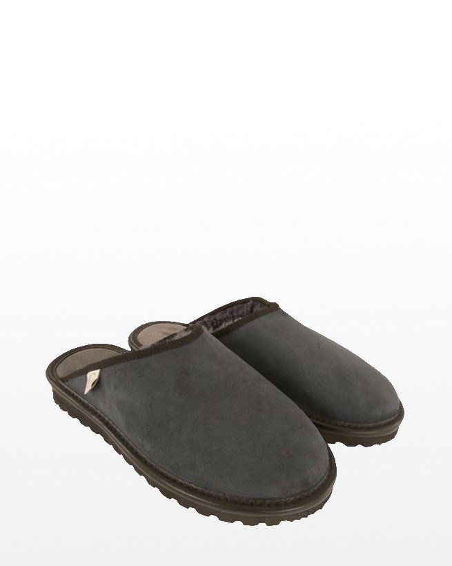 WOMENS CLOGS (BACKLESS) SIZE 4 - GREY
