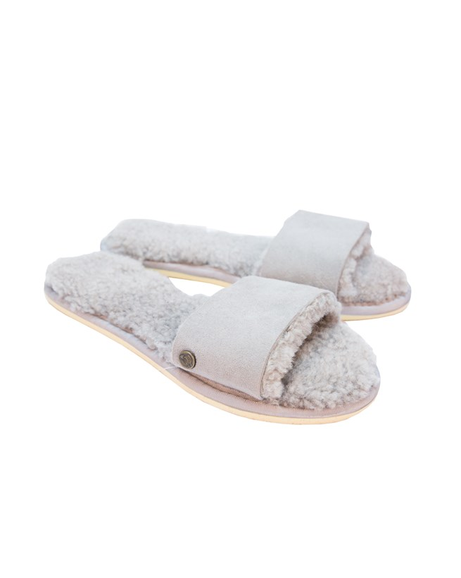 Sheepskin Slides – Size 6 – Grey - 109