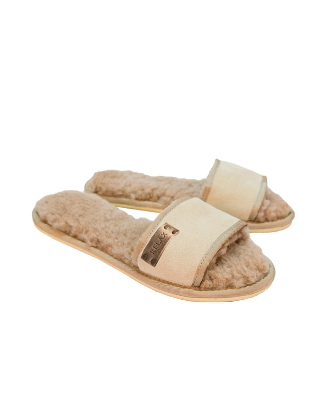 Sheepskin Slides – Size 6 – Oatmeal - 111