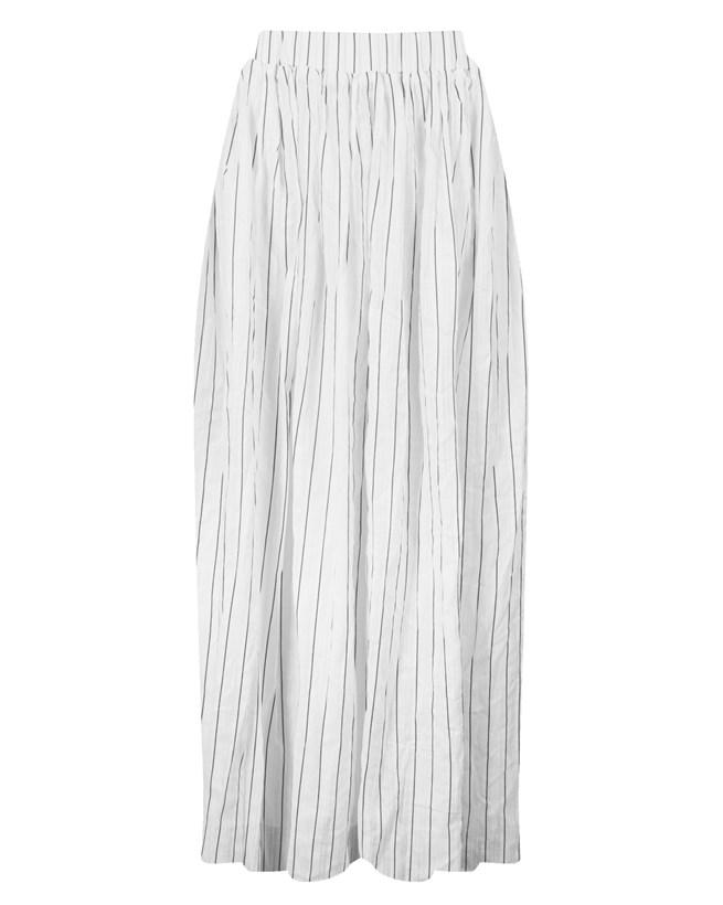 Maxi Skirt - Size Medium - Navy stripe