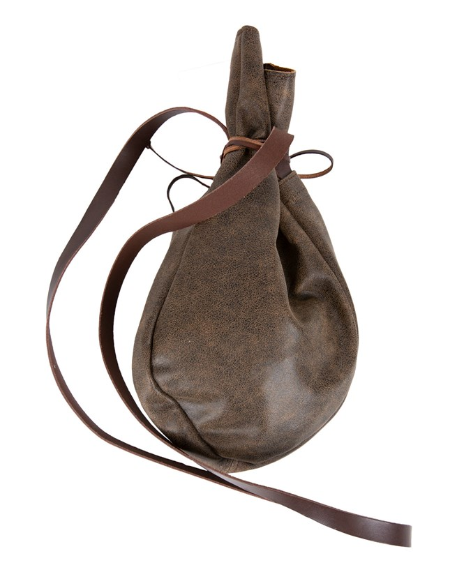 Leather Pouch Bag - Vintage Leather - 417