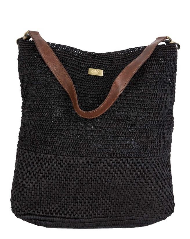 Raffia Navy Shoulder Bag - 419