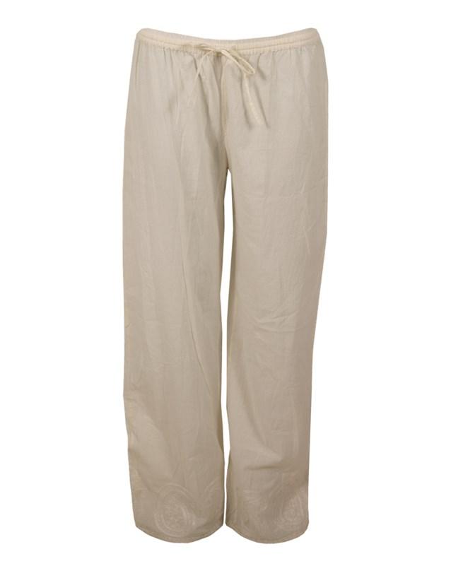 Cotton PJ Pants - Size 10 - Ecru