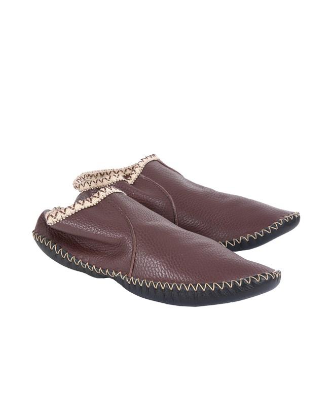 Leather Baboushka - Size 6 - Aubergine - 418