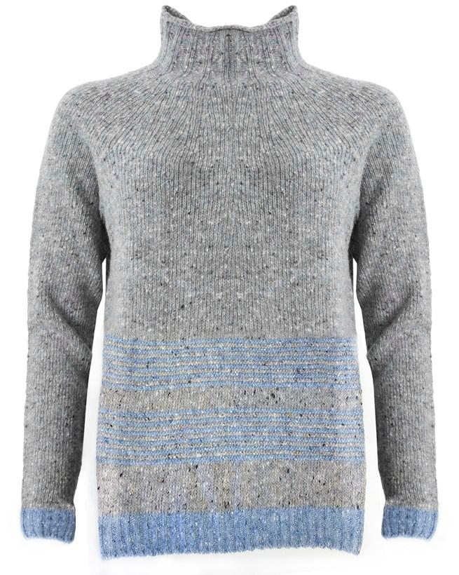 481- stitch strip hem jumper - grey light blue- front.jpg