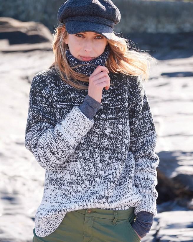 Ombre Roll Neck Jumper