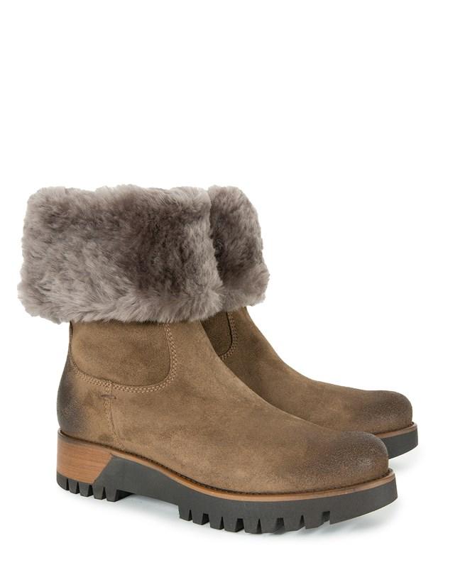Cuffed Nubuck Boots - Size 40 - 896