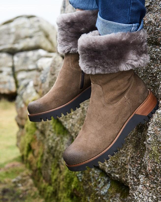 Cuffed Nubuck Boots