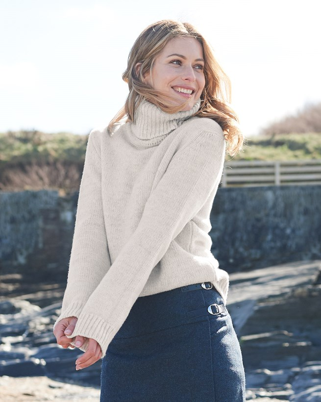 Roll Neck Slouch Jumper