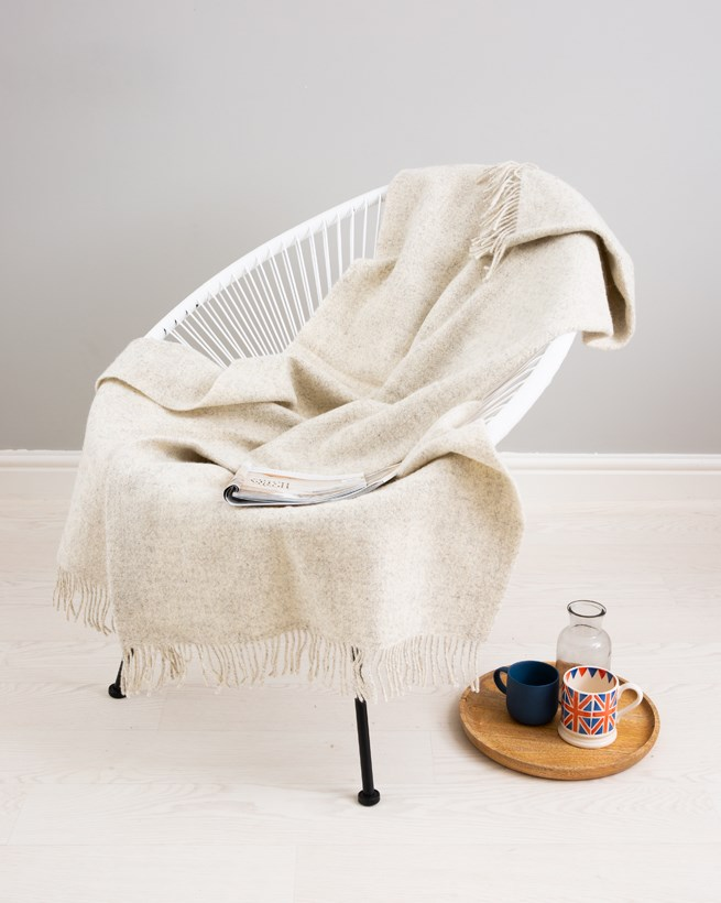 Pure Wool Undyed Throw