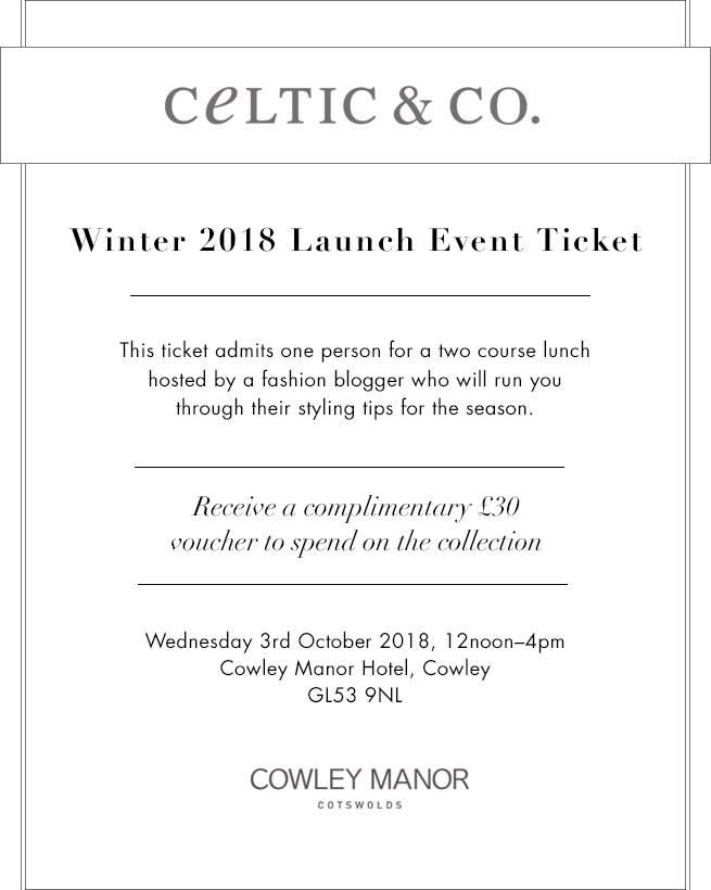 Cowley Manor Event Ticket