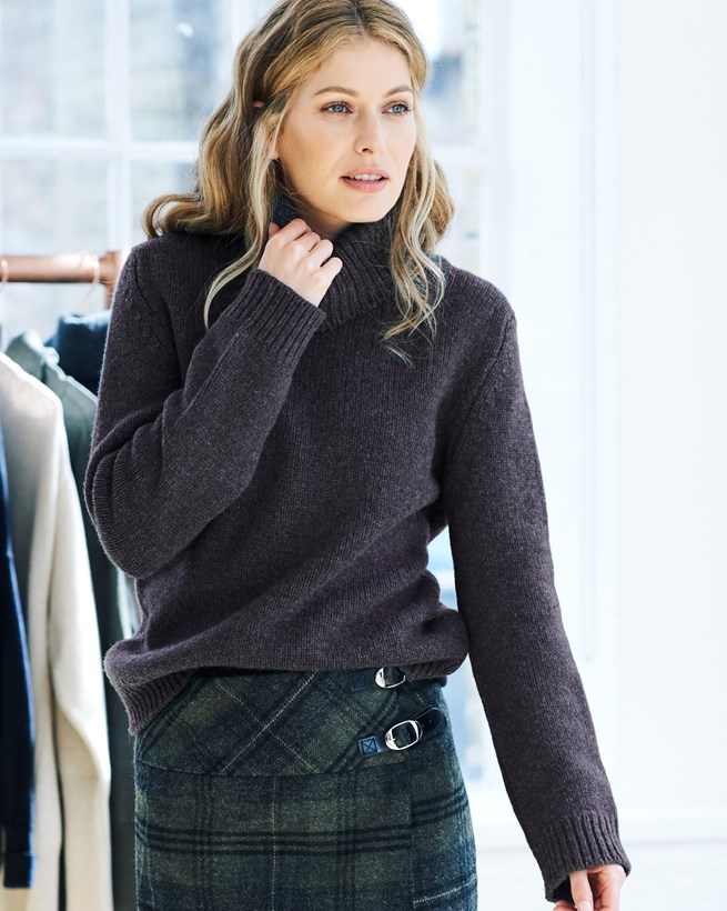 Turtleneck Slouch Sweater