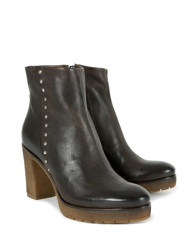 Studded Stack Heel Boots - Size 40 - 860