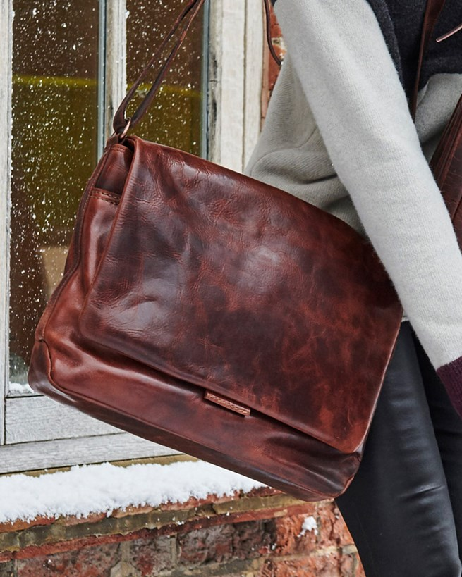 Burnished Large Satchel