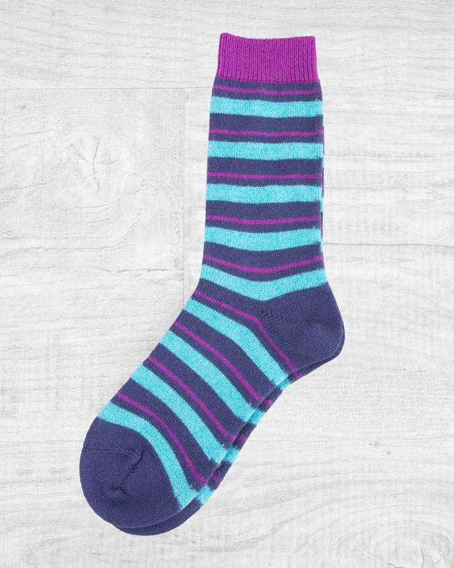 Cashmere Striped Socks