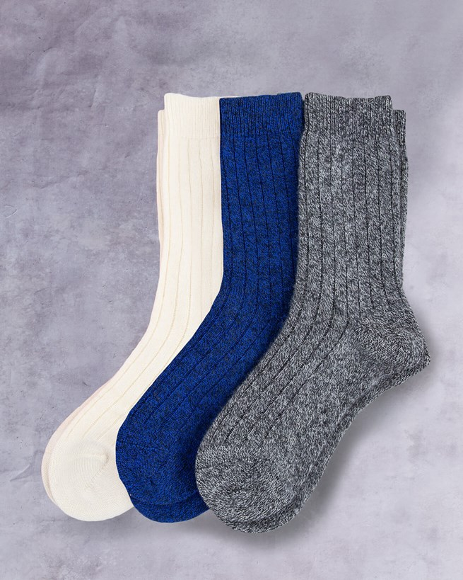 Cashmere Ladies Plain Socks