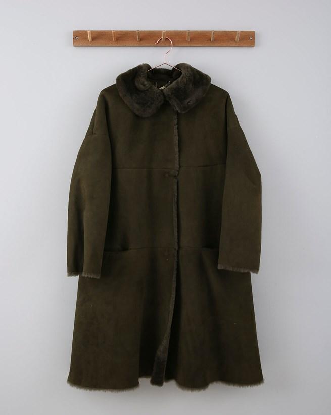 Sheepskin Coat - Size 12/14 - Olive 670