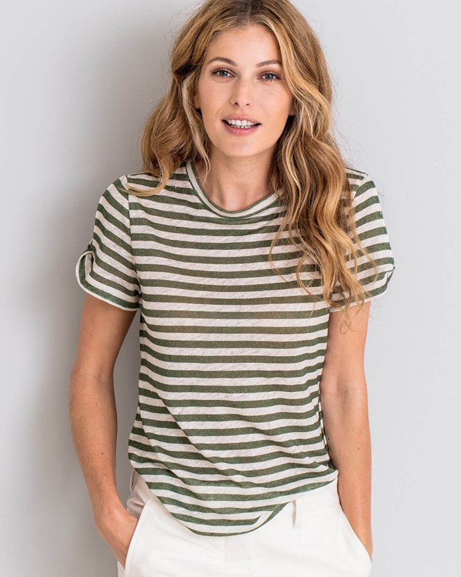 Linen Open Sleeve Top