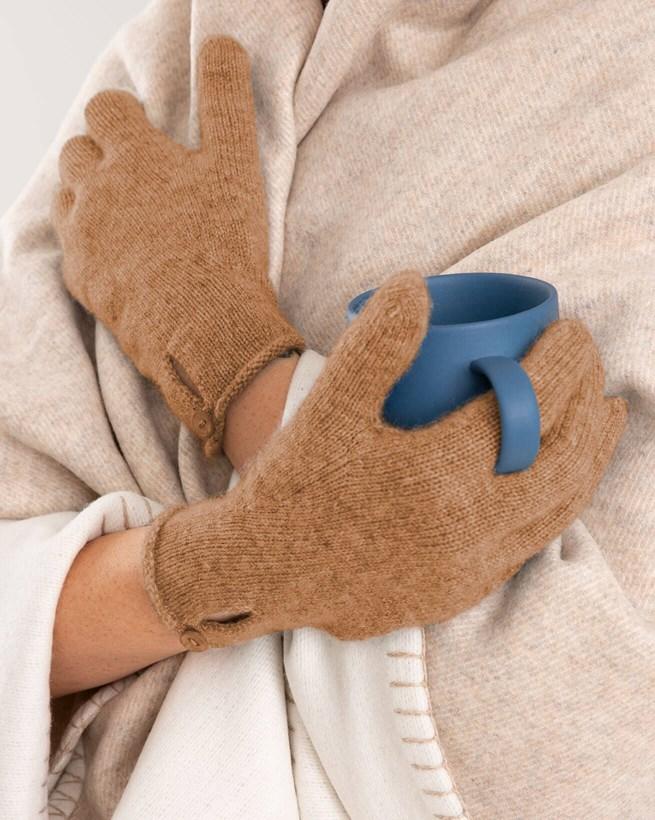 Cashmere Button Gloves