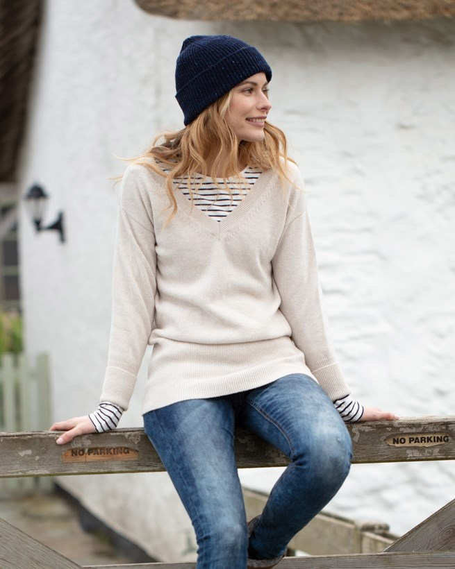 Easy V Neck Sweater