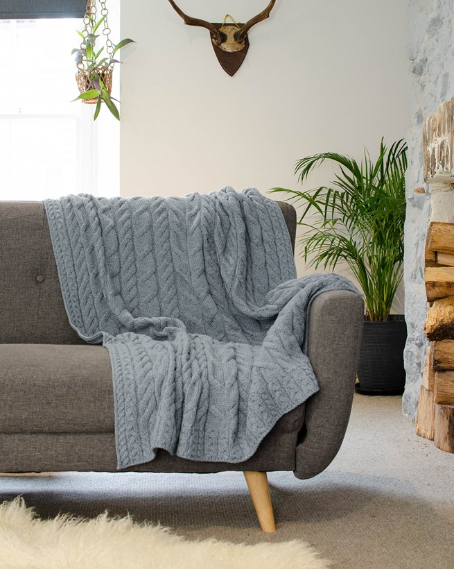 Knitted Cable Throws