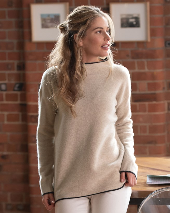 Felted Funnel Neck Jumper