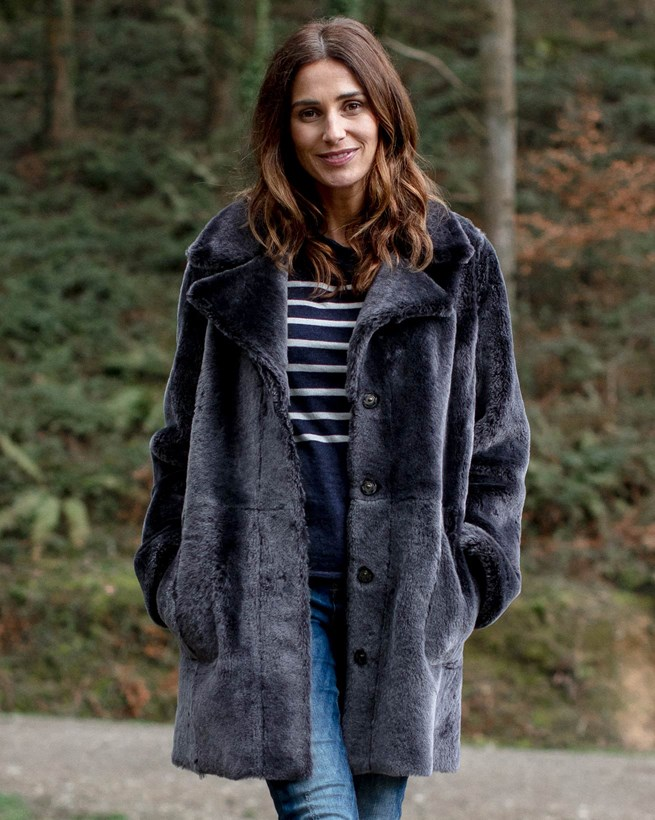 Shearling City Coat