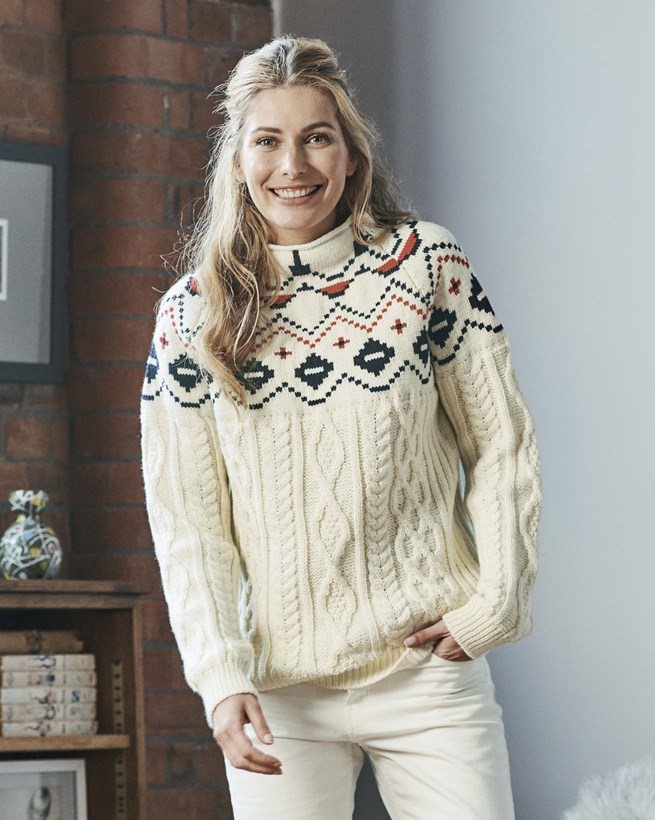 Alpine Fair Isle Funnel Neck