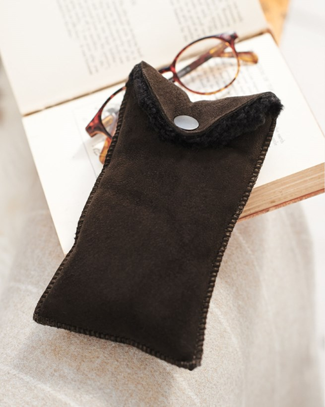 Shearling Glasses Case