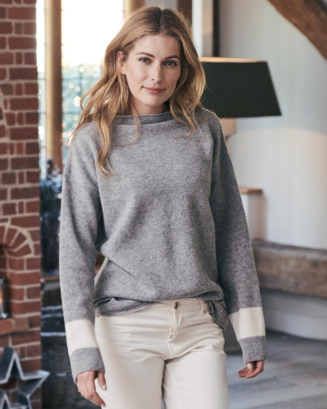 Felted Funnel Neck Sweater